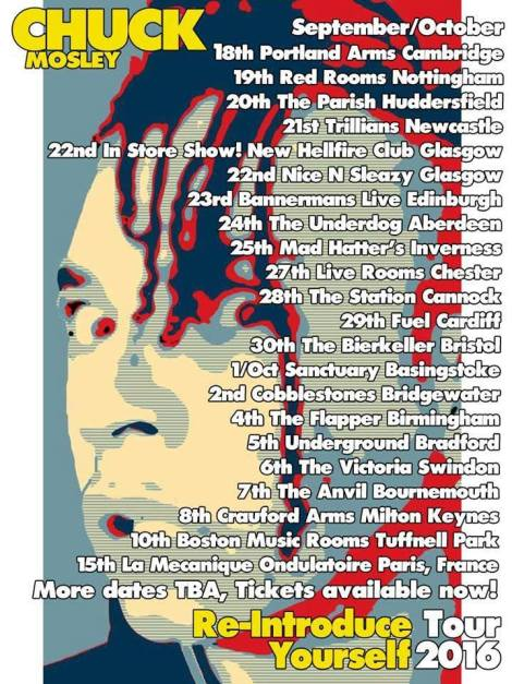 Chuck Mosley Tour Sheet